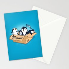 Free Penguins! Stationery Cards