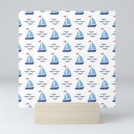 Ship Pattern Mini Art Print
