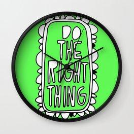 Rule #1: Green Wall Clock