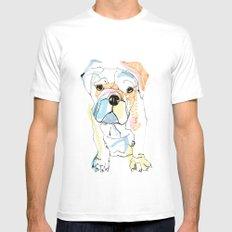 Bulldog Colour MEDIUM Mens Fitted Tee White