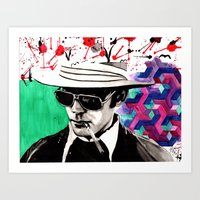 hunter s thompson Art Prints featuring hunter s. thompson by deanna kelii