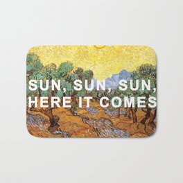 Here Comes the Yellow Sky and Sun Bath Mat