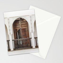 Vintage Wooden Door Marrakech Photo   Arabic Interior Design Art Print   Morocco Travel Photography Stationery Cards