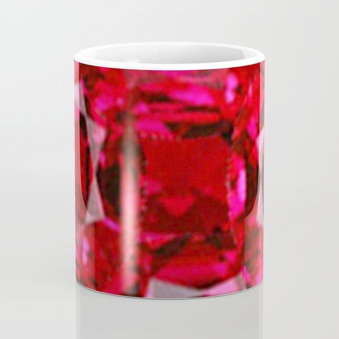 RUBY RED JULY GEM BIRTHSTONE  ART Coffee Mug