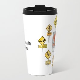 New Zealand insolite traffic signs Travel Mug