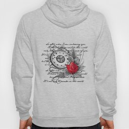 Pocket watch and rose Hoody