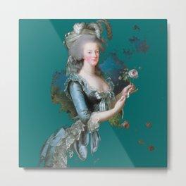 marie Antoinette teal Metal Print