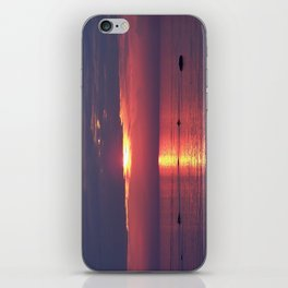 Holes in the Clouds, sunset on the water iPhone Skin