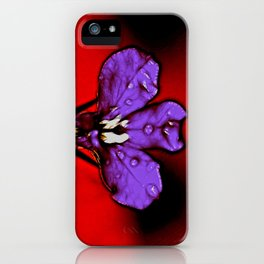 Single Lobelia Flower iPhone Case