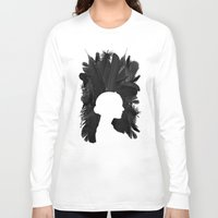black swan Long Sleeve T-shirts featuring Black Swan by Bill Pyle