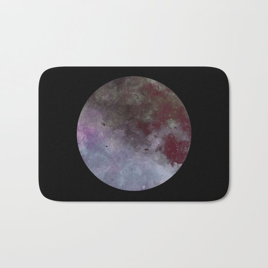 Lonely planet - Space themed geometric painting Bath Mat