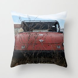 Beat Up Car Throw Pillow