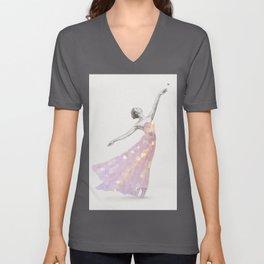 Crystal Ballerina Unisex V-Neck