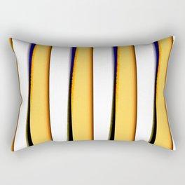 yellow blue white stripes Rectangular Pillow