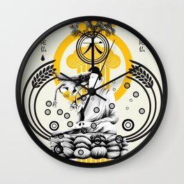 ki hamurai Wall Clock