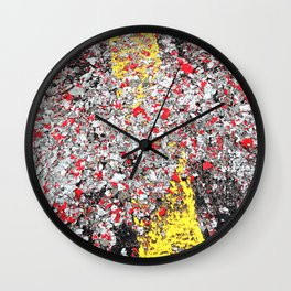 A85 Paint Chips Wall Clock