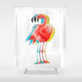 Flamingo PoP Shower Curtain