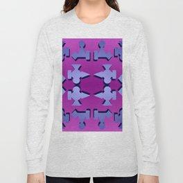 V1 pattern Long Sleeve T-shirt