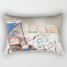 NYC Snow Day on Central Park West Rectangular Pillow