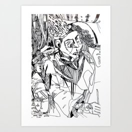 Brut Guru Art Print