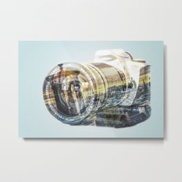 Edinburgh city and castle from Calton hill and Stewart monument 5 Metal Print