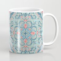 bedding Mugs featuring Gypsy Floral in Red & Blue by micklyn