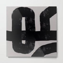Nikko Abstract Series- Dark Line 3 Metal Print