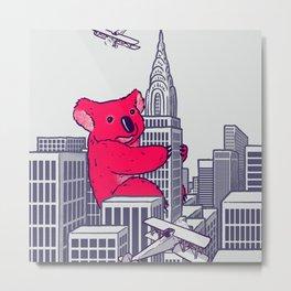 Koala Kong Metal Print