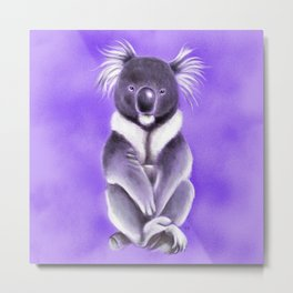 Cool Buddha Koala Metal Print