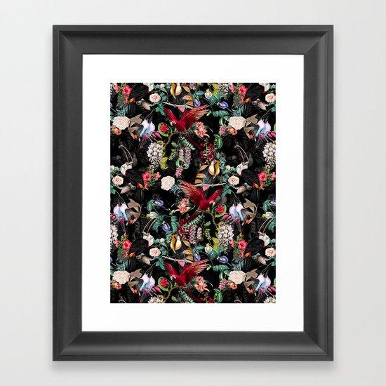 Floral and Birds IX Framed Art Print