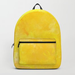 yellow watercolor Backpack