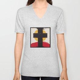 Cross and Sunset Unisex V-Neck