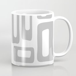 Retro Mid Century Modern Abstract Pattern 336 Gray Coffee Mug