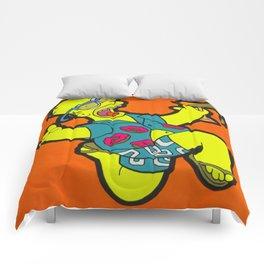 Woo Hoo! - homer pop art painting Comforters