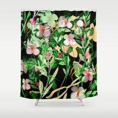 Garden Frenzy Night Shower Curtain
