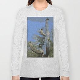Saguaro Abstract Long Sleeve T-shirt