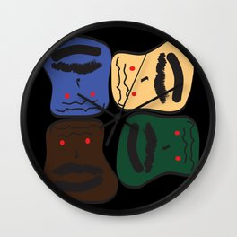 Happy or Angry Wall Clock
