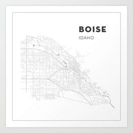 BOISE Map Print Art Print