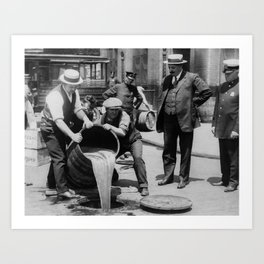 Booze Dump - Vintage Prohibition Photo Art Print