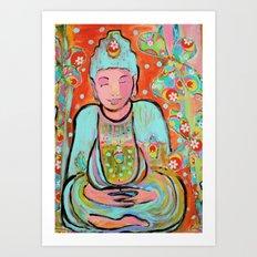 Funky Buddha Art Print