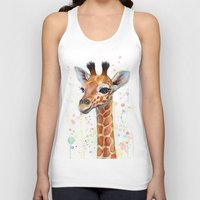 baby Tank Tops featuring Giraffe Baby by Olechka