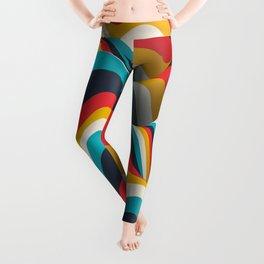 Mid Century Wavy Stripes Leggings