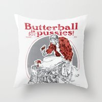thanksgiving Throw Pillows featuring Happy Thanksgiving! by Hey!Roger