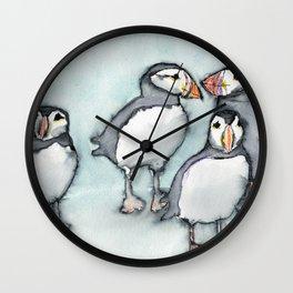 Puffins 2 Wall Clock