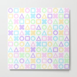 A weird game of pastel tic tac toe Metal Print