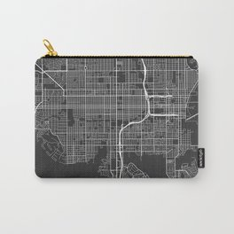 St Petersburg Map, USA - Gray Carry-All Pouch