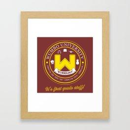 Wumbo University Framed Art Print