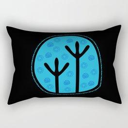 Emu Tracks Australian Aboriginal Style 2 Rectangular Pillow