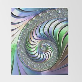 Colorful Spiral Throw Blanket