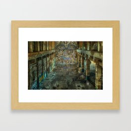 Apocalyptic Vision of the Sistine Chapel Rome 2020 Framed Art Print
